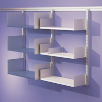 Toprail - Laminate shelving